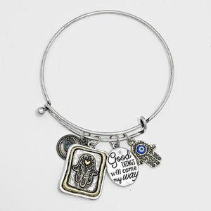 "Jewelry - "" Evil Eye Hamsa Hand Bracelet"